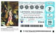 Décimo de Lotería de Navidad 2013